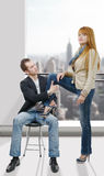Cheerful young couple in love Royalty Free Stock Photo