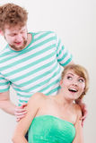 Cheerful young couple portrait Stock Photos