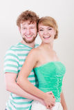 Cheerful young couple portrait Stock Images