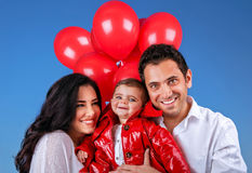 Cheerful young family Royalty Free Stock Photography