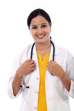 Cheerful young female doctor Stock Photography