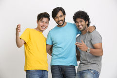 Cheerful young friends happy Stock Photo