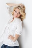 Cheerful young girl Stock Photos