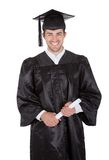 Cheerful young graduation man Stock Photography