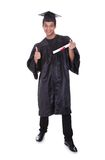 Cheerful young graduation man Royalty Free Stock Photo