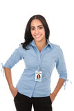 Cheerful Young Hispanic Businesswoman Stock Images