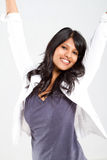 Cheerful young indian woman Stock Image