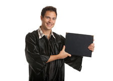 Cheerful Young Male Man Holding Graduation Certificate Isolated Royalty Free Stock Photos