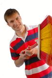 Cheerful young man Stock Photos