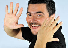 Cheerful young man. Royalty Free Stock Photography