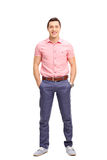 Cheerful young man in casual outfit Stock Images