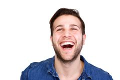 Cheerful young man laughing Royalty Free Stock Photography