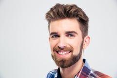 Cheerful young man looking at camera Stock Image