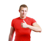 Cheerful young man Stock Image