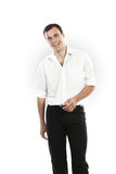 Cheerful young man in shirt Stock Image