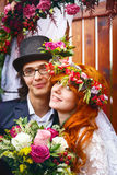 Cheerful young married couple Royalty Free Stock Images