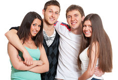 Cheerful young people Stock Photography