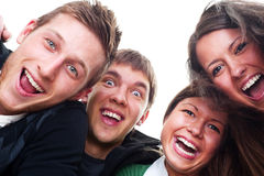 Cheerful young people Stock Photos
