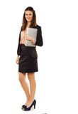 Cheerful Young Professional with Laptop Stock Photography