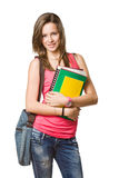 Cheerful young student. Royalty Free Stock Photo