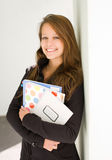 Cheerful young student girl. Royalty Free Stock Images