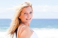 Cheerful young woman Stock Image