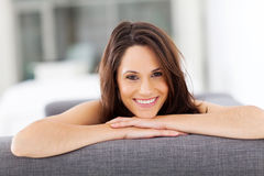 Cheerful young woman Stock Photos