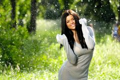 Cheerful young women Royalty Free Stock Images