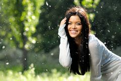 Cheerful young women Stock Photo