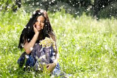 Cheerful young women Royalty Free Stock Photography