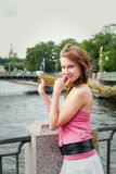 Cheerful young woman Royalty Free Stock Images