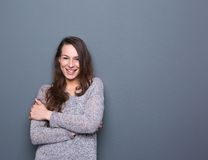 Cheerful young woman Royalty Free Stock Image