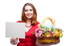 Cheerful easter woman Royalty Free Stock Photography