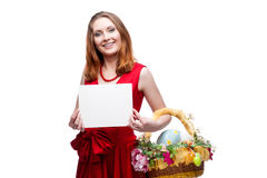 Cheerful easter woman Stock Image