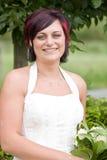 Cheerfull bride Stock Photo