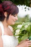 Cheerfull bride Stock Image