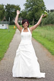 Cheerfull bride Stock Photos