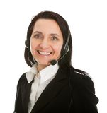 Cheerfull call center operator Stock Image
