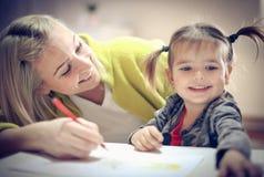 Cheerfully onderwijs thuis stock afbeelding