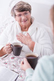 Cheerfulness and positive attitude. Image of women with cheerfulness and positive attitude stock photography