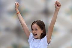 cheering royalty-vrije stock fotografie