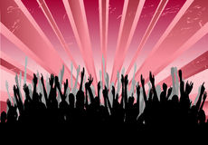 Cheering Audience Royalty Free Stock Photo