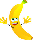 Cheering banana Royalty Free Stock Photography