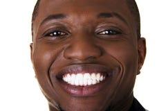 Cheering black man Stock Photos