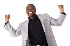 Cheering black man Stock Photography
