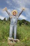 Cheering boss scarecrow Royalty Free Stock Photos