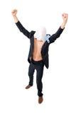 Cheering Businessman Royalty Free Stock Photo