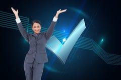 Cheering businesswoman Stock Photos