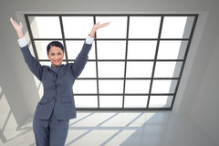 Cheering businesswoman Stock Photos