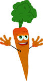 Cheering carrot Stock Photo